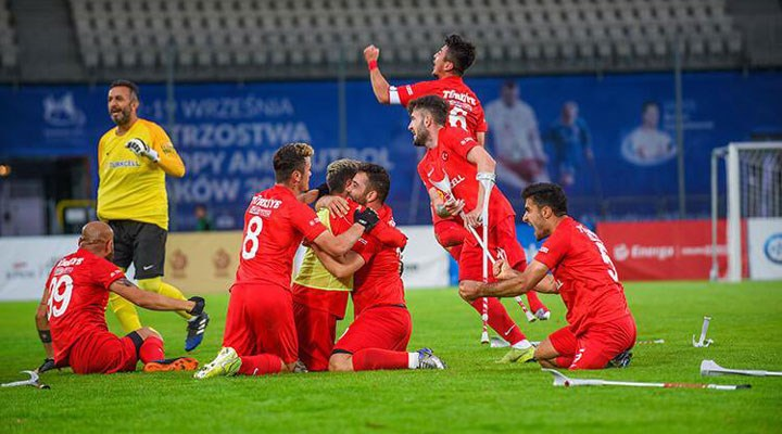 Ampute Futbol Milli Takımı, üst üste ikinci kez Avrupa şampiyonu oldu