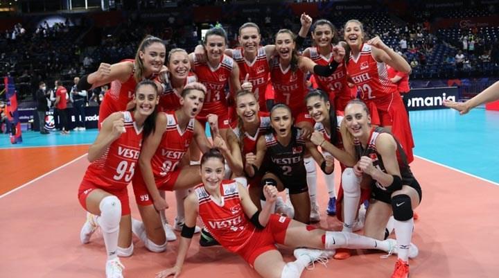 Türkiye kadın voleybolunda Avrupa üçüncüsü